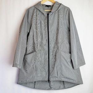 Sun Kim Hooded Parka Rain Jacket